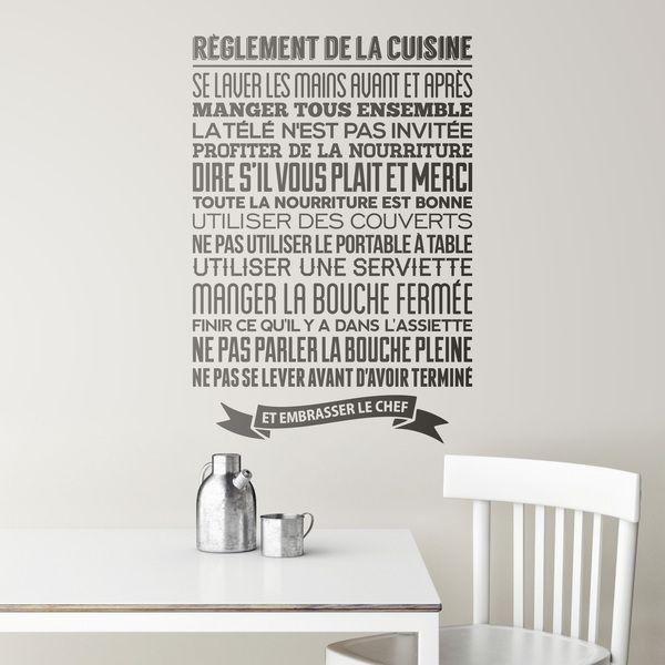 Vinilos Decorativos: Règlement de la cuisine