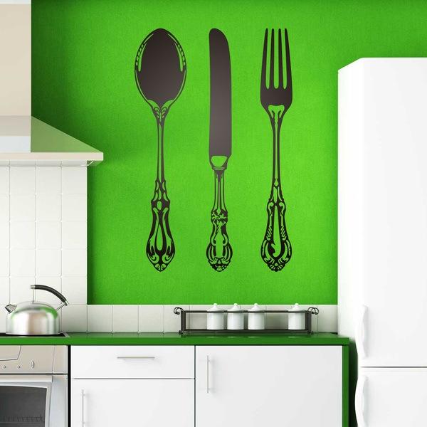 Vinilos Decorativos: Cuchara, cuchillo y tenedor