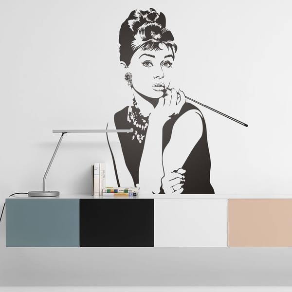 Vinilos Decorativos: Audrey Hepburn 3