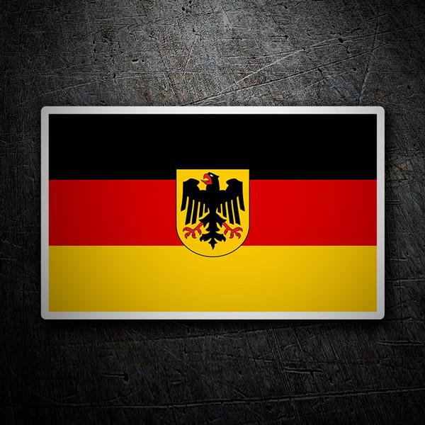 Pegatinas: Bandera de Alemania con escudo