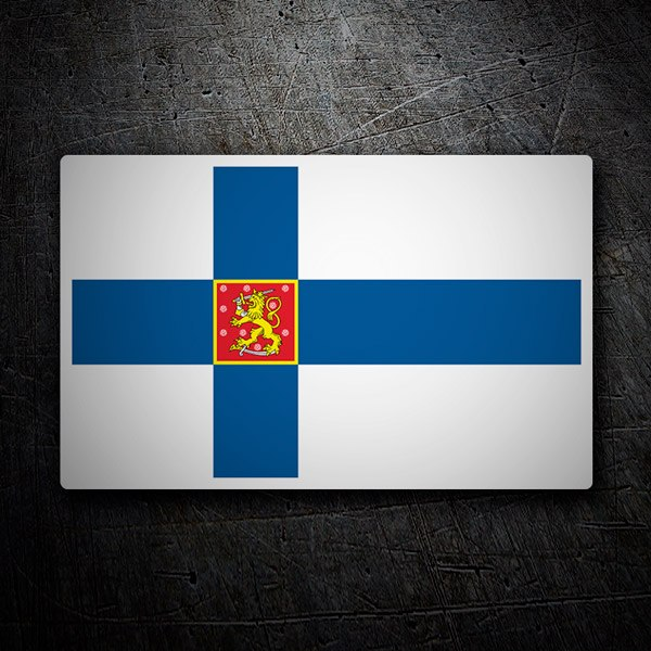 Pegatinas: Bandera de Finlandia