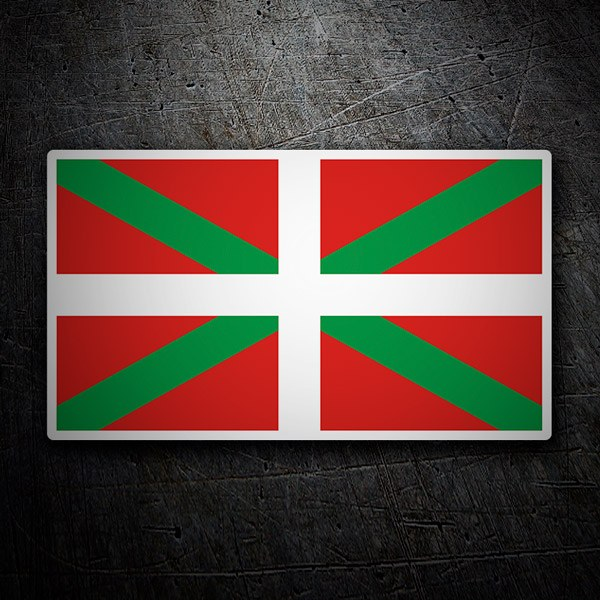 Pegatinas: Bandera Ikurriña