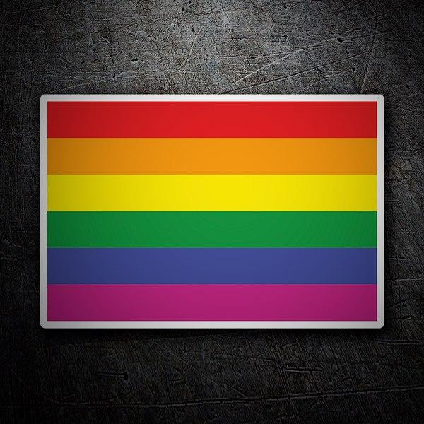 Pegatinas: Bandera Arcoíris
