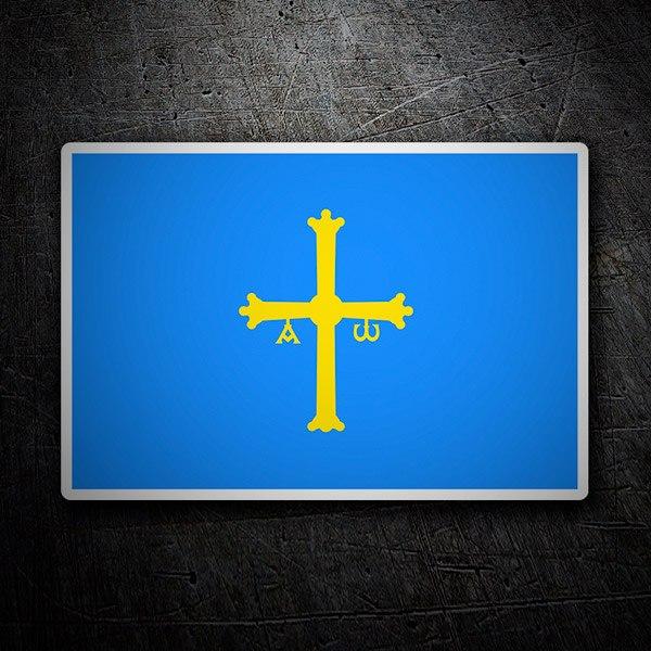 Pegatinas: Bandera de Asturias