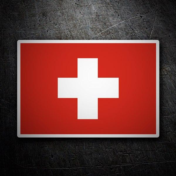 Pegatinas: Bandera de Suiza