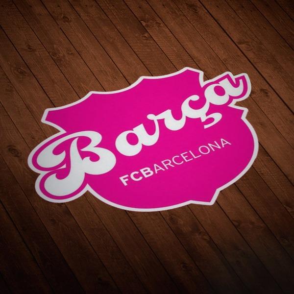 Pegatinas: Futbol Club Barcelona en rosa