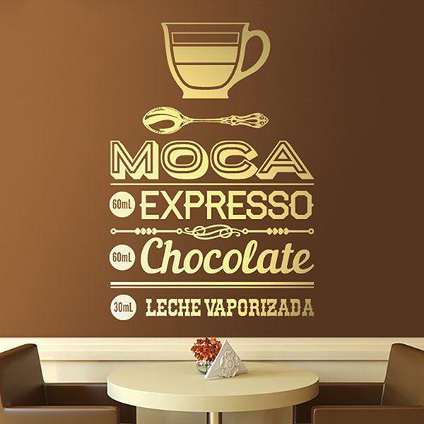 Vinilos Decorativos: Café Moca