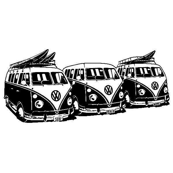 Vinilos Decorativos: 3 Furgonetas VW Surf