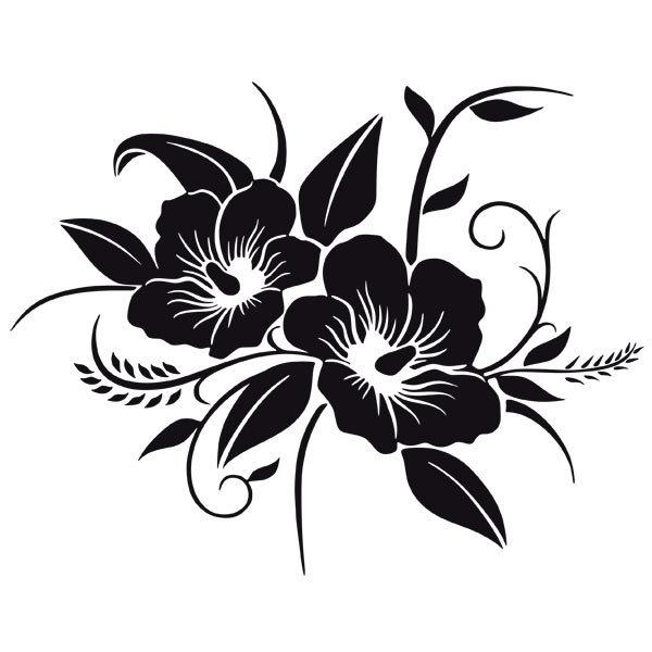 Vinilos Decorativos: Floral Hawaiano