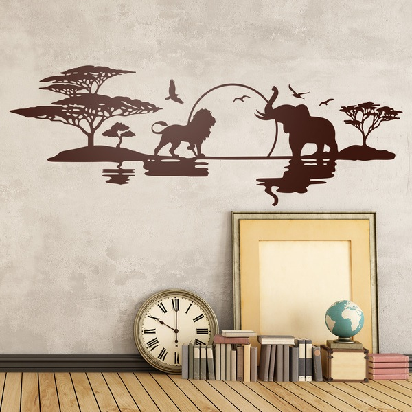 animales paisajes y escenas de frica en vinilo. Black Bedroom Furniture Sets. Home Design Ideas