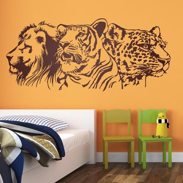 Vinilos Decorativos: León, tigre y leopardo