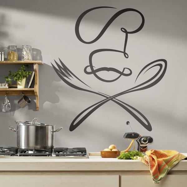 Vinilos Decorativos: Chef cuchara y tenedor