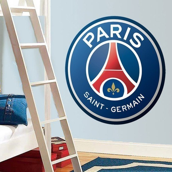 Vinilos Decorativos: Escudo París Saint-Germain PSG Color