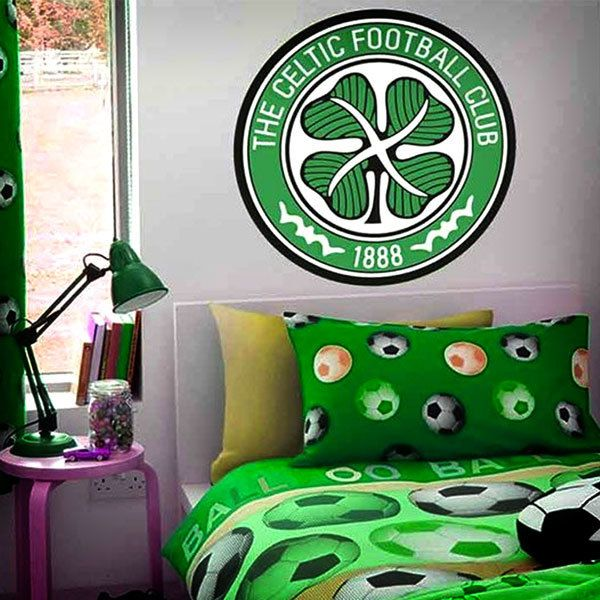 Vinilos Decorativos: Escudo Celtic FC Color