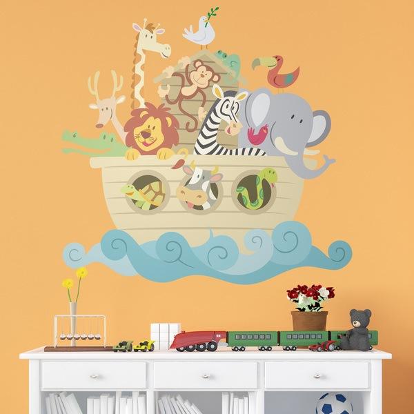 Vinilos Infantiles: El arca de Noé color