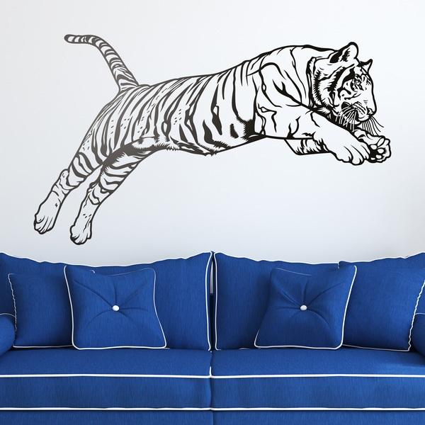 Vinilos Decorativos: Salto del tigre de Bengala