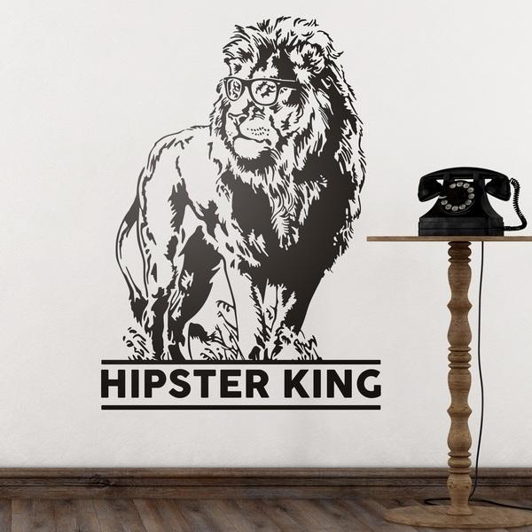 Vinilos Decorativos: Hipster King