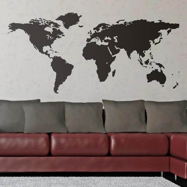 Vinilos Decorativos: Mapamundi - Silueta mapa del mundo