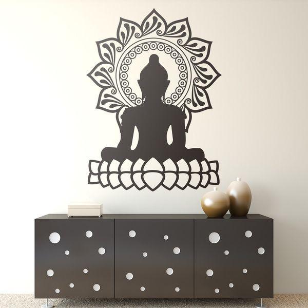 Vinilos Decorativos: Buda y flor de loto