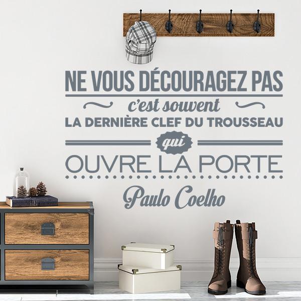Vinilos Decorativos: Ne vous decouragez pas c est souvent la...