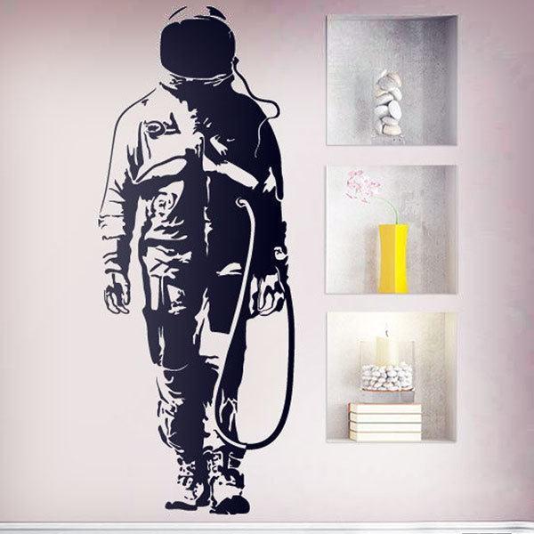 Vinilos Decorativos: Graffiti Astronauta de Banksy