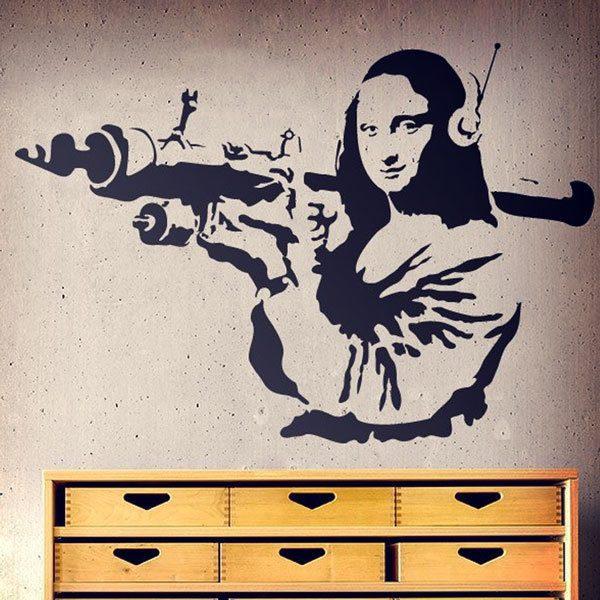 Vinilos Decorativos: Gioconda Terrorista de Banksy