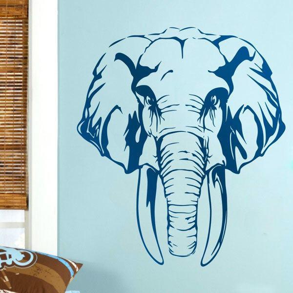 Vinilos Decorativos: Cabeza de elefante africano