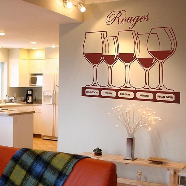 Vinilos Decorativos: Tipos de vino tinto