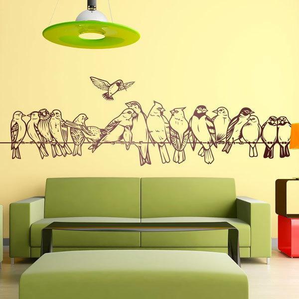 Vinilos Decorativos: Pájaros sobre el cable