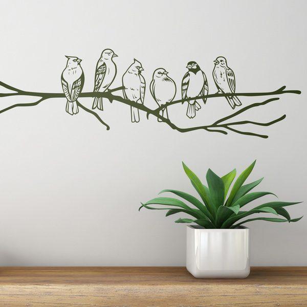 Vinilos Decorativos: Pajaros en la rama