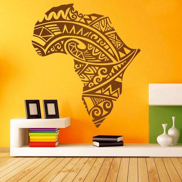 Vinilos Decorativos: Silueta África tatuaje tribal