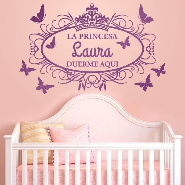 Vinilos Infantiles: La princesa duerme aquí