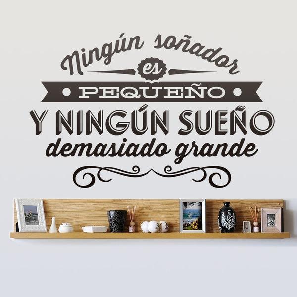 Vinilos Decorativos: Ningún soñador es pequeño...