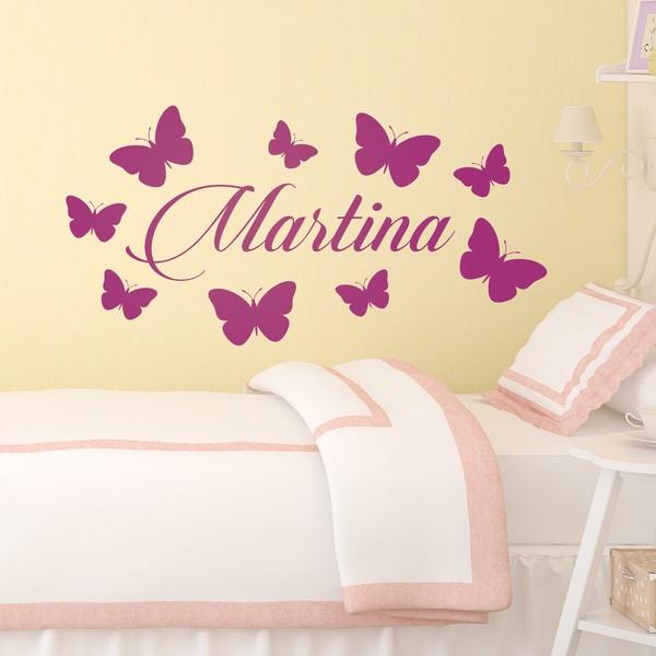 vinilo infantil para ni as personalizado de mariposas