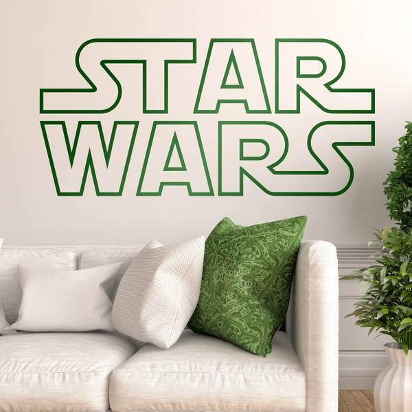 Vinilos Decorativos: Logo Star Wars Borde