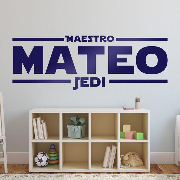 Vinilos Decorativos: Maestro Jedi Personalizado