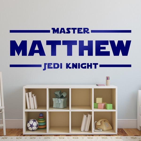 Vinilos Decorativos: Master Jedi Knight Personalizado