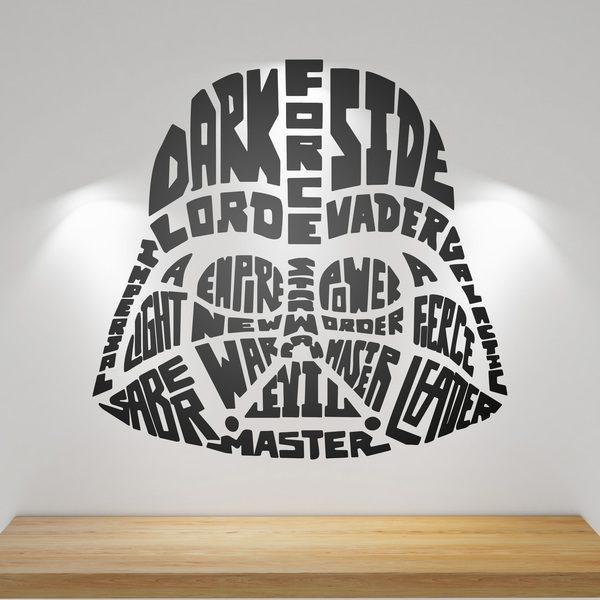 Vinilos Decorativos: Tipográfico Darth Vader