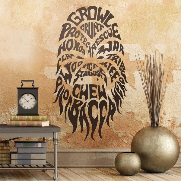Vinilos Decorativos: Tipográfico Chewbacca