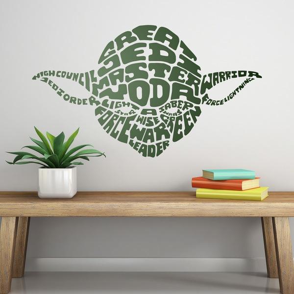 Vinilos Decorativos: Tipográfico Yoda