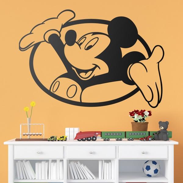 Vinilos Infantiles: Ventana Mickey Mouse