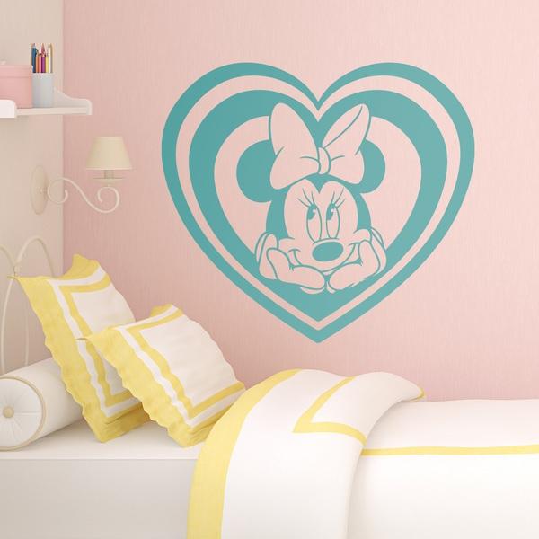 Vinilos Infantiles: Corazón Minnie Mouse