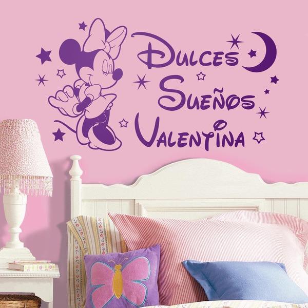 Vinilos personalizados de minnie mouse dulces sue os - Vinilos decorativos para pared infantiles ...