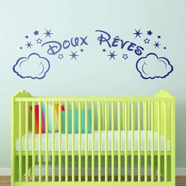 Vinilos Infantiles: Nubes y Estrellas Doux Rêves