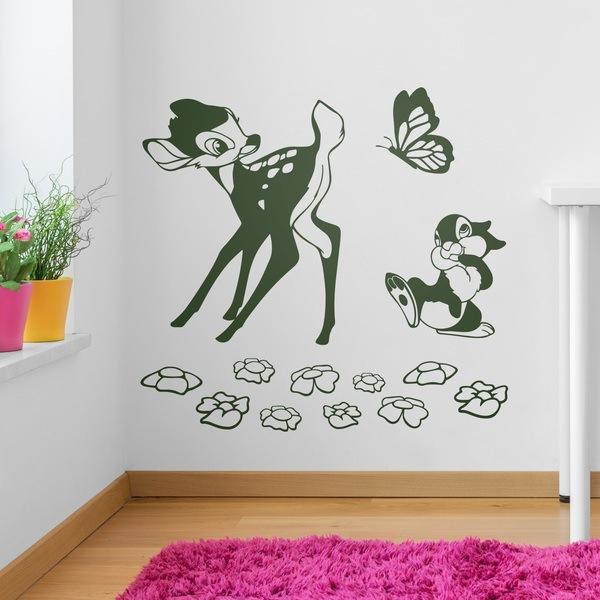 Vinilos Infantiles: Bambi, mariposa y ardilla