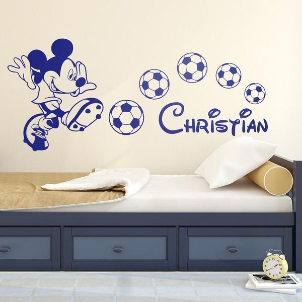 Vinilos Infantiles: Mickey Mouse Fútbol 1