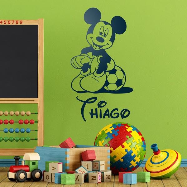 Vinilos Infantiles: Mickey Mouse Fútbol 4