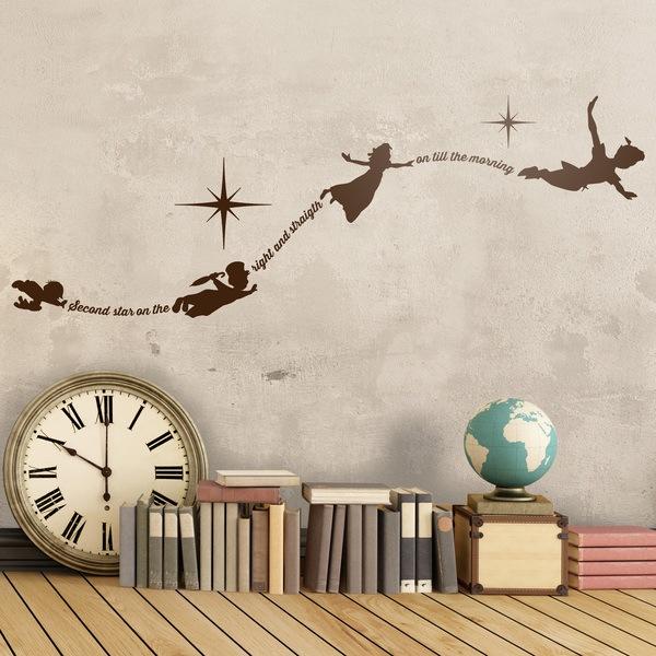 Vinilos Infantiles: Tipográfico Peter Pan Inglés