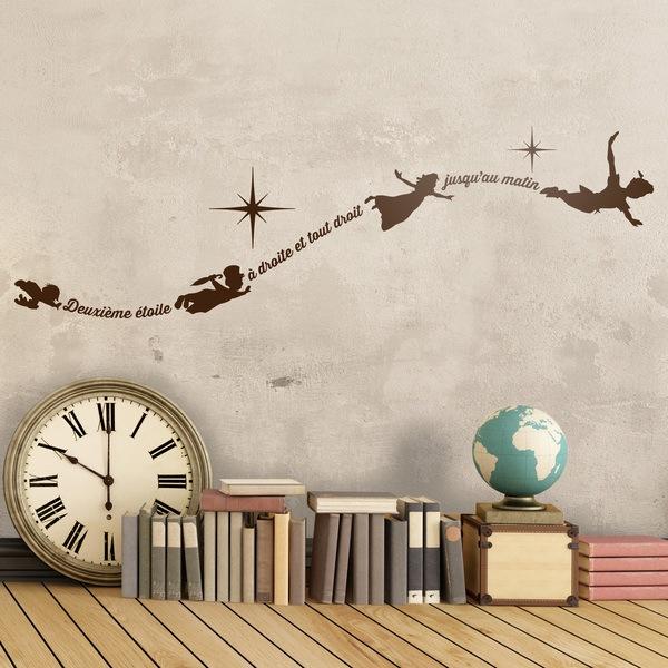 Vinilos Infantiles: Vinilo Tipográfico Peter Pan Francés