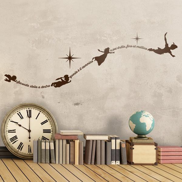 Vinilos Infantiles: Vinilo Tipográfico Peter Pan Italiano